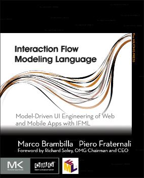 IFML book cover - OMG - Morgan Kauffman. Marco Brambilla & Piero Fraternali